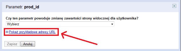 Pokaż przykładowe adresy URL