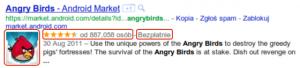 Opis wzbogacony Angry Birds