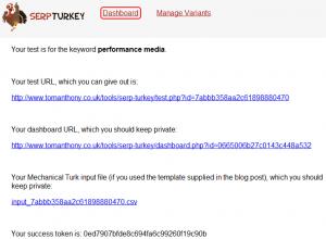 Adresy URL testu SERP Turkey