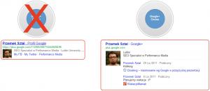 Profil Google+ wwynikach wyszukiwania