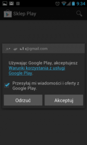 Aktualizacja aplikacji Android Market