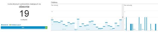 Google Analytics wczasie rzeczywistym