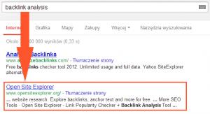 Wyniki wyszukiwania dla 'backlink analysis'