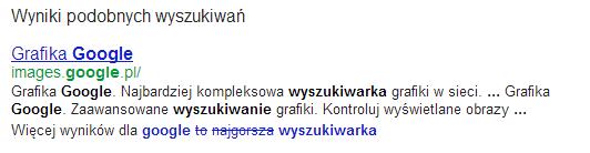 Wyniki podobnych wyszukiwań wGoogle (5)