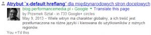 Wynik wyszukiwania spersonalizowany woparciu oGoogle+