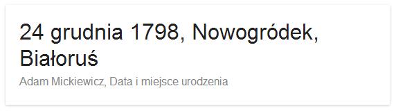 Data narodzin Adama Mickiewicza