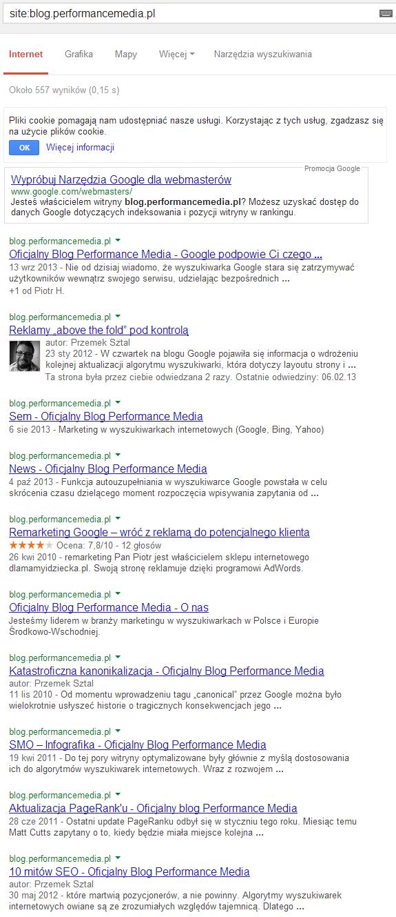 """Wyniki dla zapytania """"site:blog.performancemedia.pl"""""""