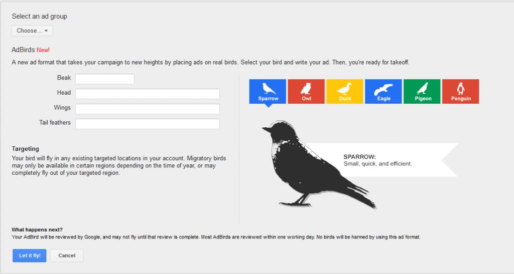 AdBirds - nowy format reklamowy AdWordsa
