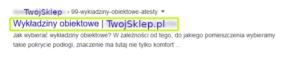 SERP - Tytuł (title)
