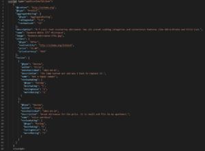 mikrodane schema.org JSON - przykład