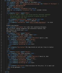 mikrodane schema.org RDF - przykład