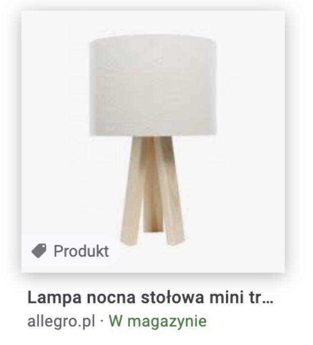 lampa wwynikach wyszukiwania - rich snippets