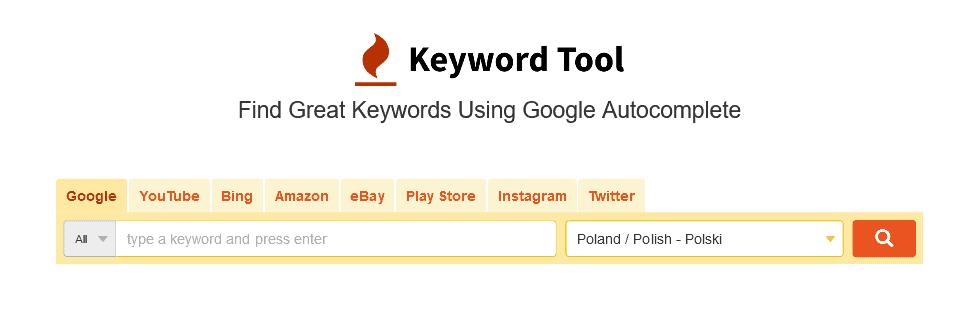 keywordtool narzędzie dosłów kluczowych