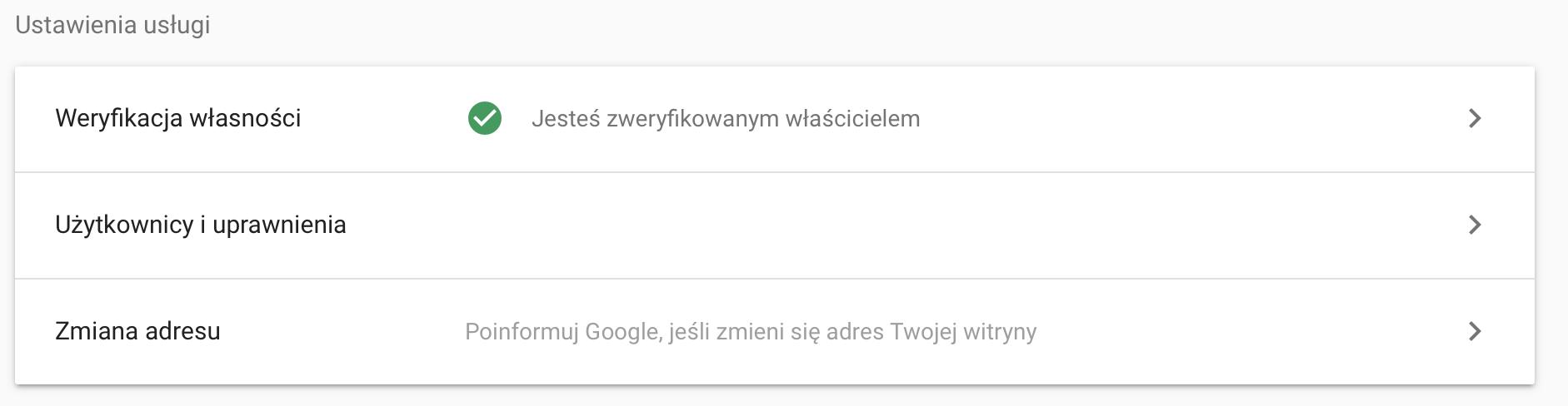 dodawanie użytkowników dogoogle search console