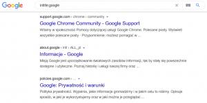 Komenda zaawansowanego wyszukiwania intitle