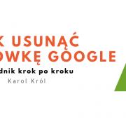 Usuwanie wizytówki Google